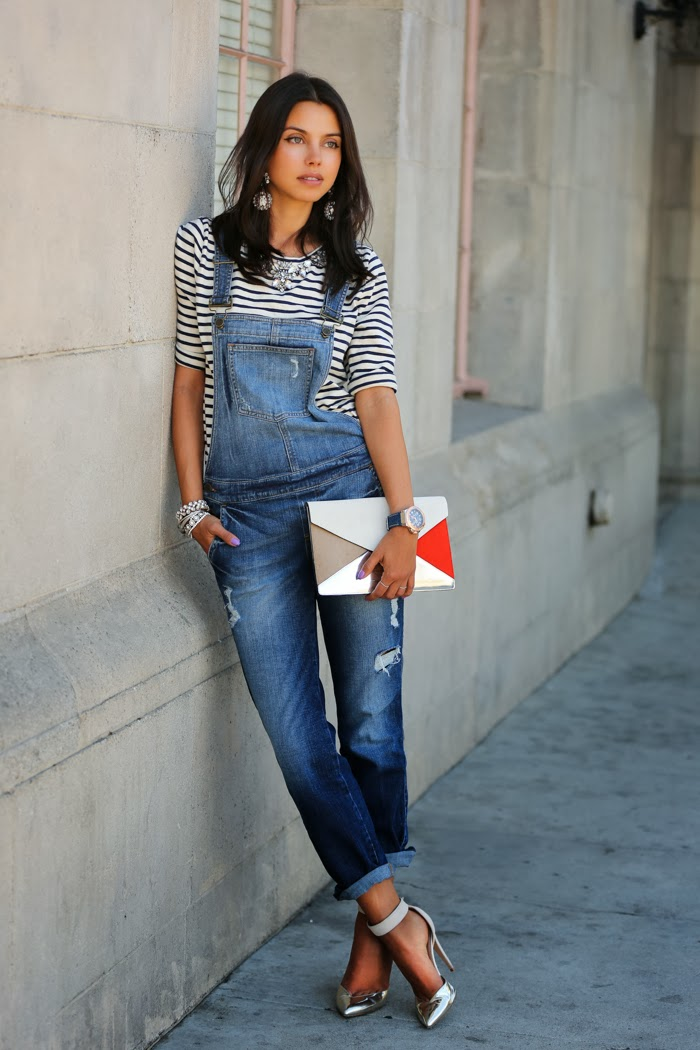 denim-overalls-with-ankle-strap-shoes