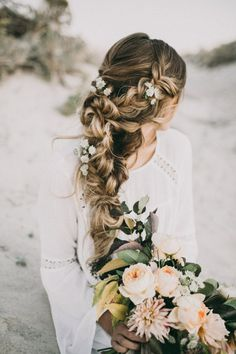 Lovely Bohemian Wedding Hairstyles