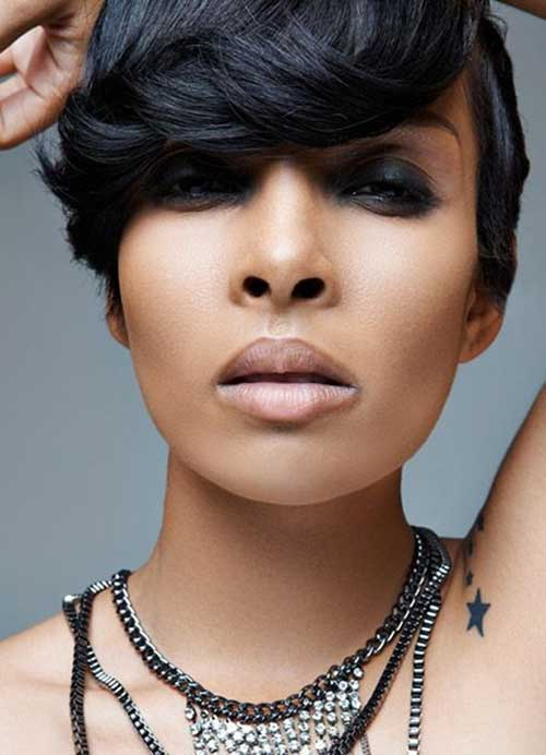 Short Hairstyles for Black Women With Bangs