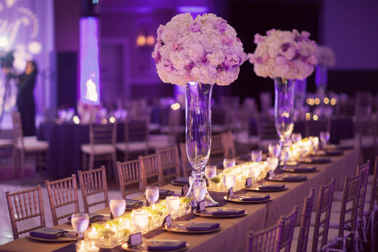 Purple Theme Wedding Decorations