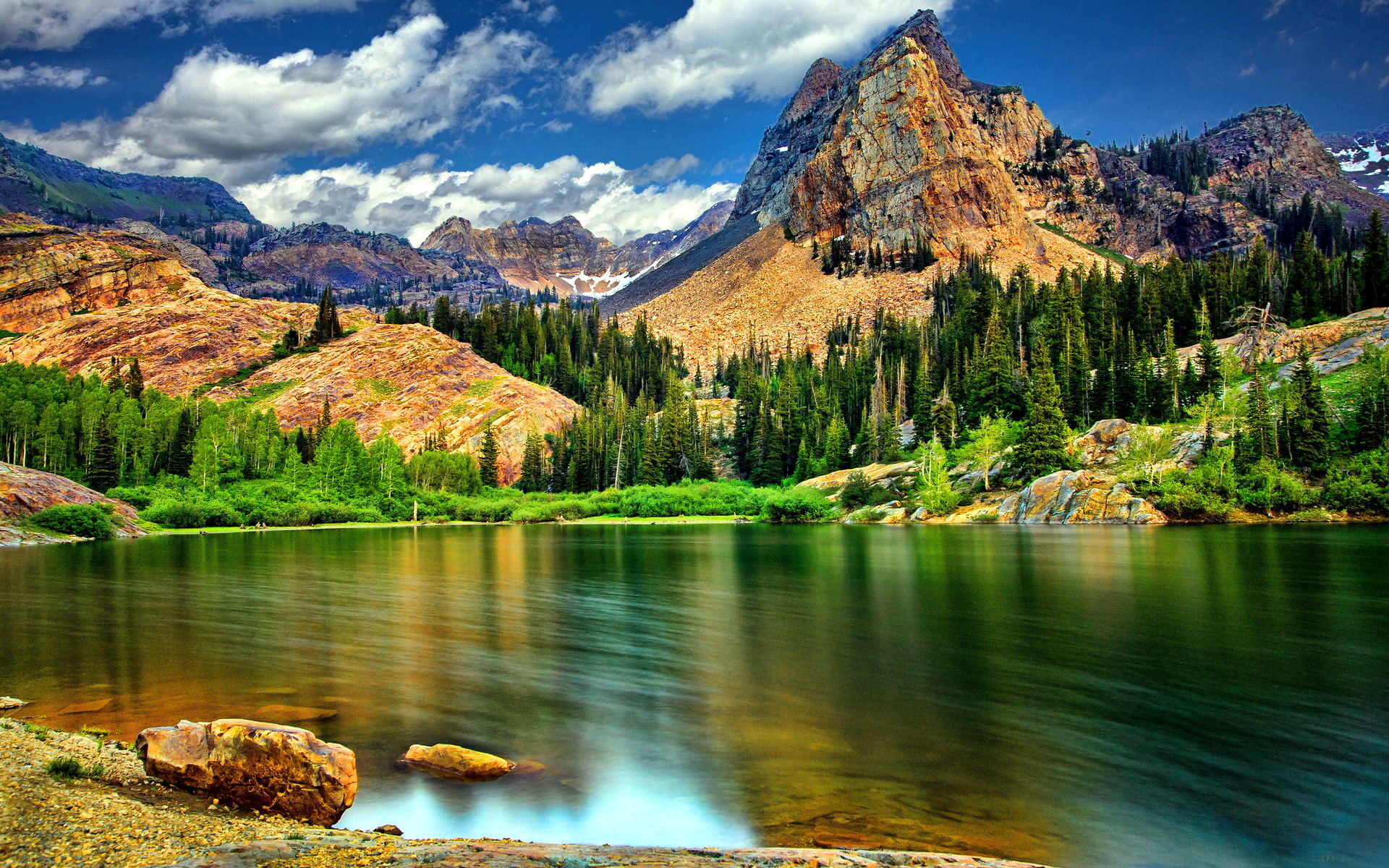 Mountain And Lake