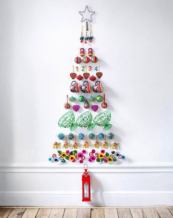 Cool Christmas Wall Decor : Awesome and unique christmas tree ideas for this year