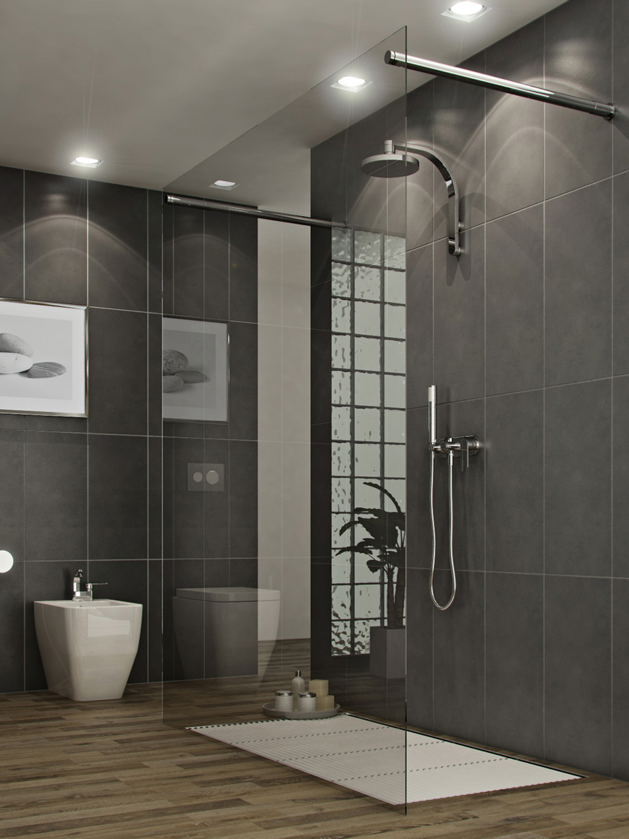 11 awesome modern bathrooms with glass showers ideas for Modern glass designs